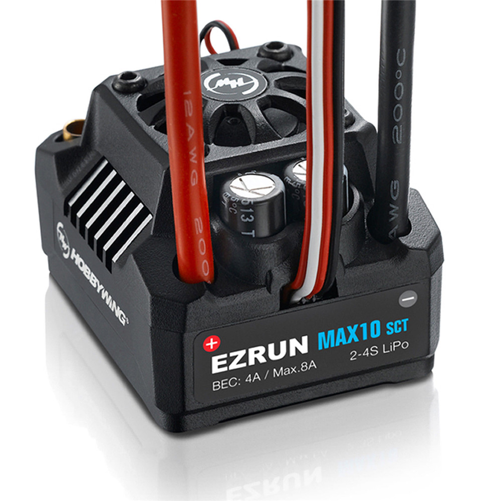 Hobbywing EZRUN MAX10-SCT 120A Waterproof Brushless ESC for 1/10 Rc Car Truck