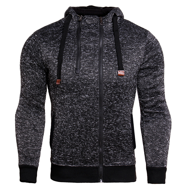 Double Zipper Sweater Sports Shirt Plus Vest Hooded Sweater Running Jacket Sportswear