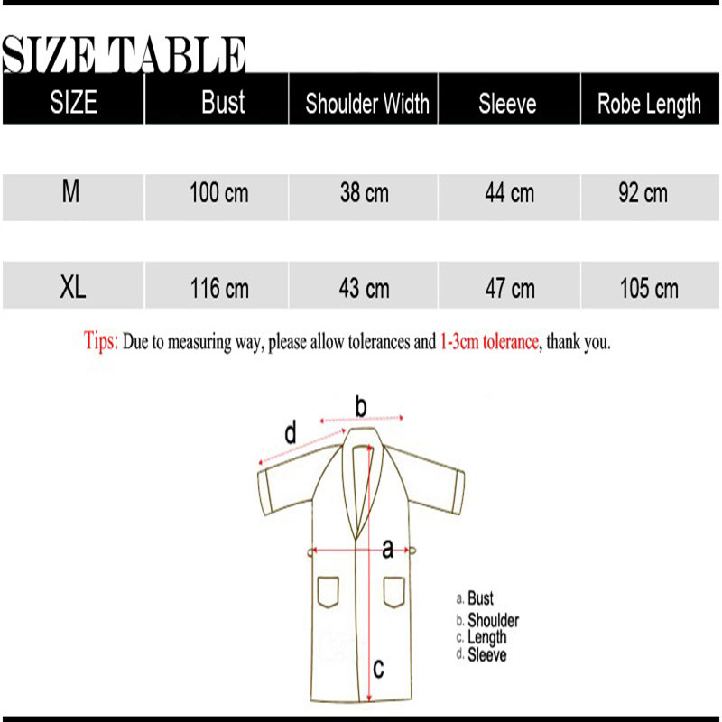 Honana BX-987 Towel Bathrobe Dressing Gown Unisex Men Women Solid Cotton Waffle Sleep Lounge