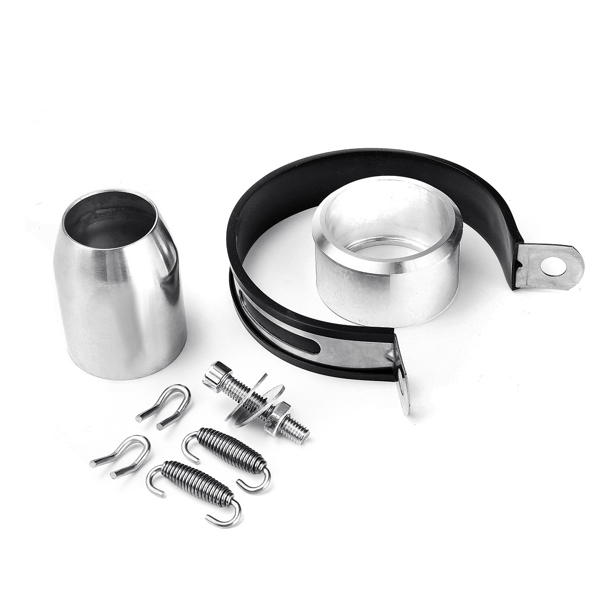 61mm Motorcycle Stainless Steel Exhaust Muffler Pipe Kit For R1 CBR1000 s1000rr