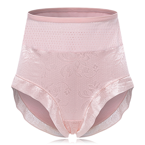 Plus Size High Waisted Modal Stretchy Hollow Panties