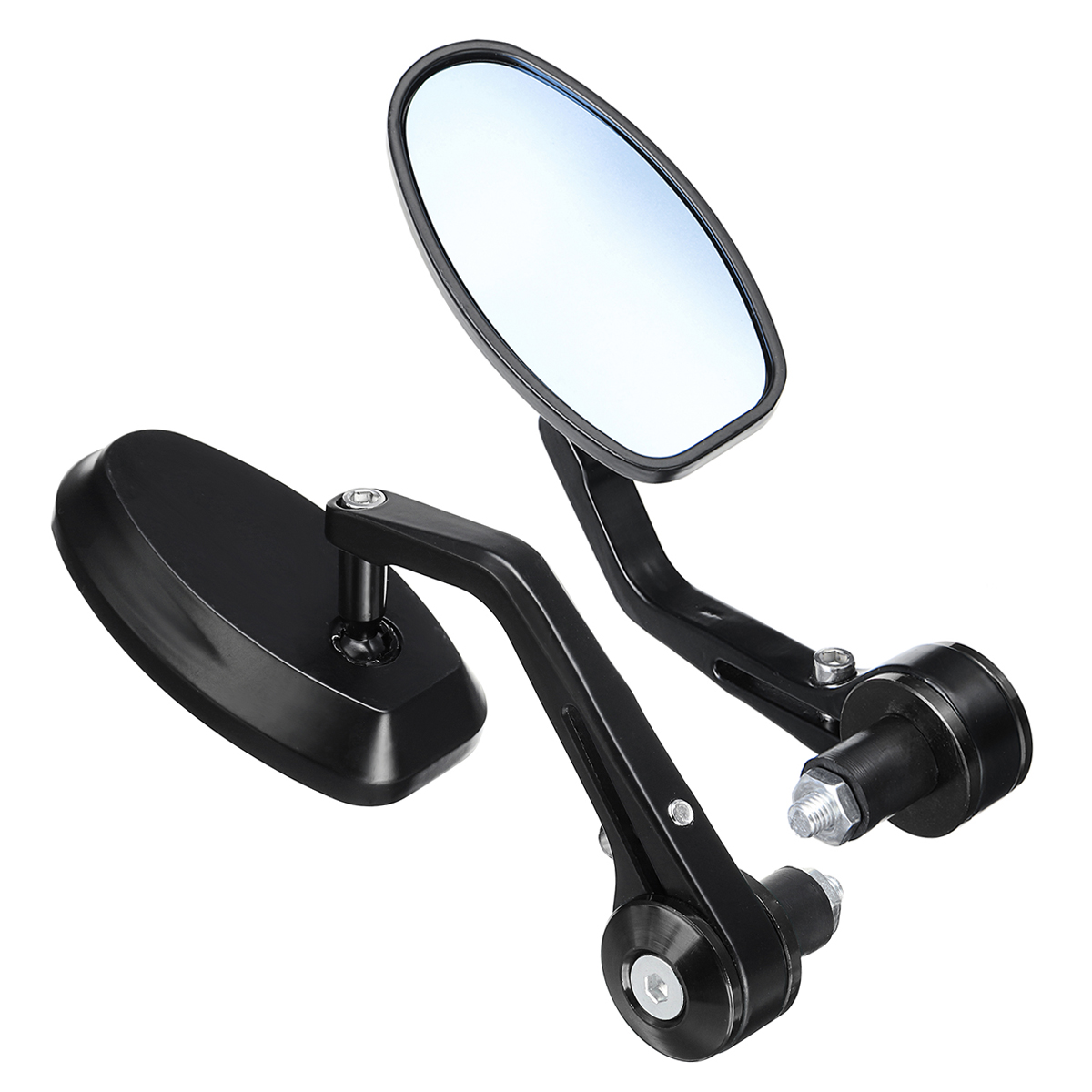 Pair Left Right Universal Anti Glare Handlebar Rearview Side Mirrors Motorcycle Scooter