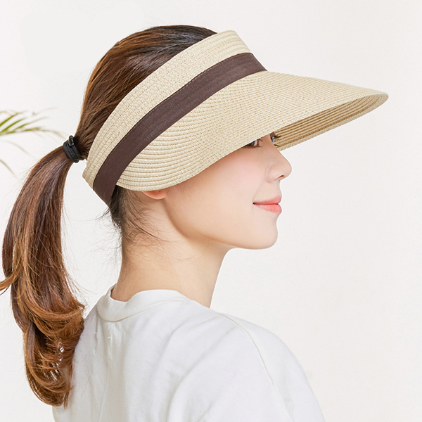 Women Summer Removable Top Sunshade Outdoor Straw Hat