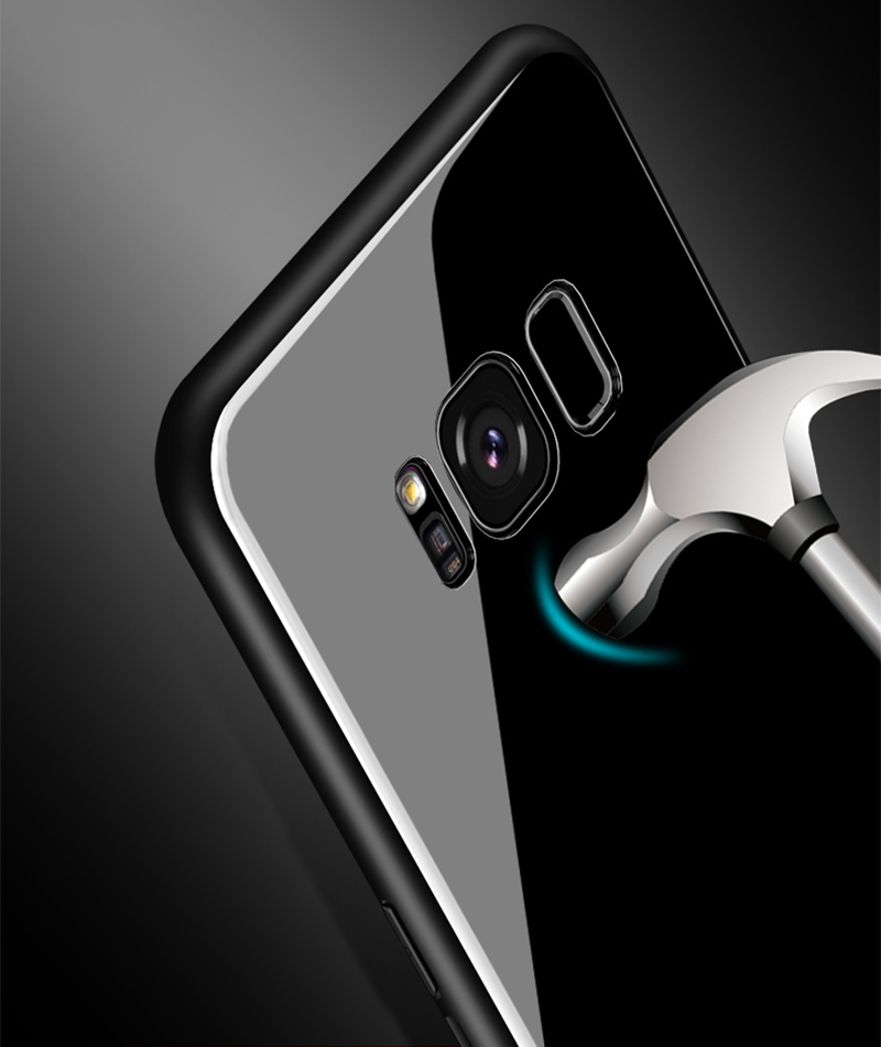 Bakeey 360º Rotation Ring Kickstand Tempered Glass Protective Case For Samsung Galaxy S8/S8 Plus