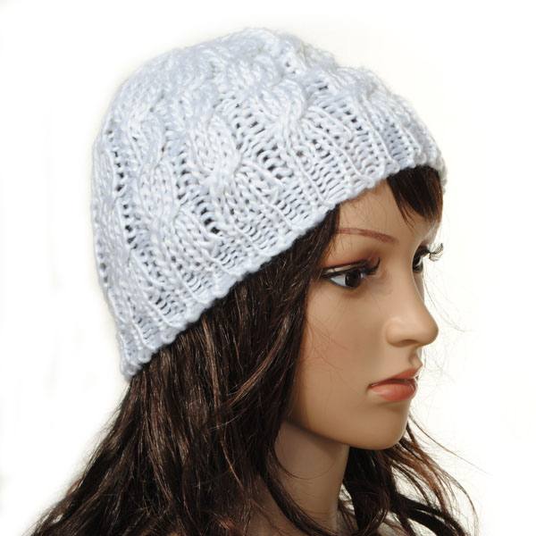 Women Ladies Braided Baggy Beanie Cap Knit Crochet Warm Hat