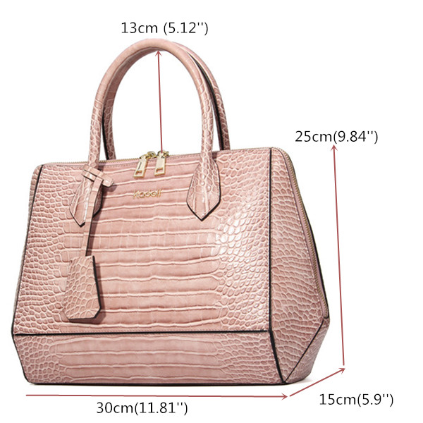 Kadell Women Crocodile Tote Handbags Elegant Shoulder Bags