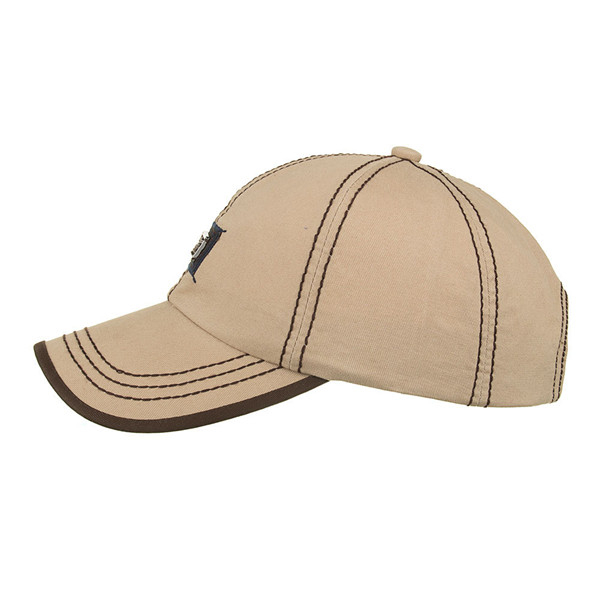 Men Cotton Hat Breathable Peaked Cap Sunshade Baseball Cap