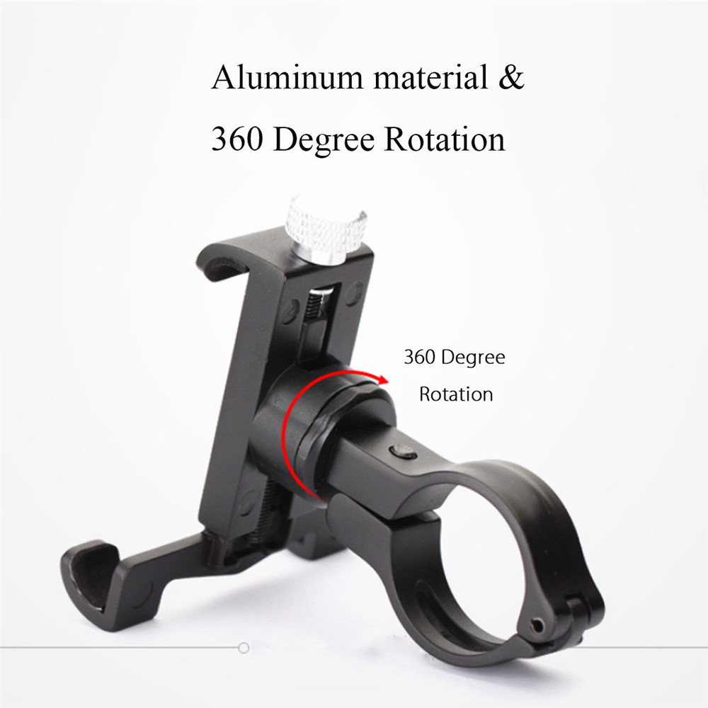 360° Rotating Universal Phone Holder Aluminum Bicycle Motorcycle Holder for Cell Phones GPS