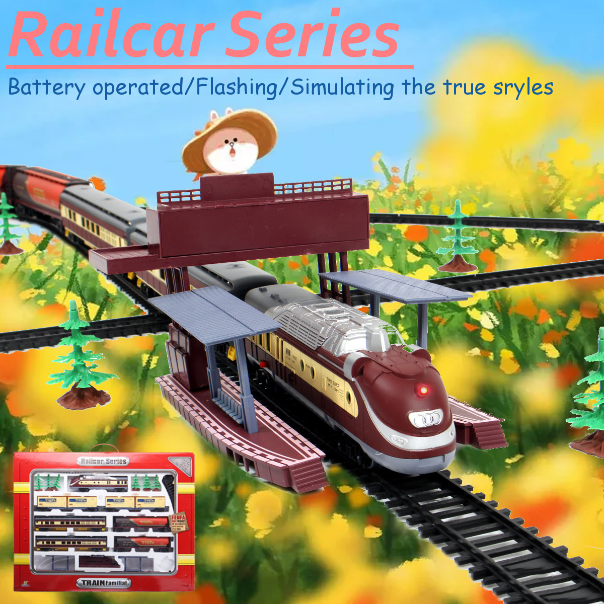 Details about Electric Classic Train Rail Vehicle Toys Set Track Music  Light Operated