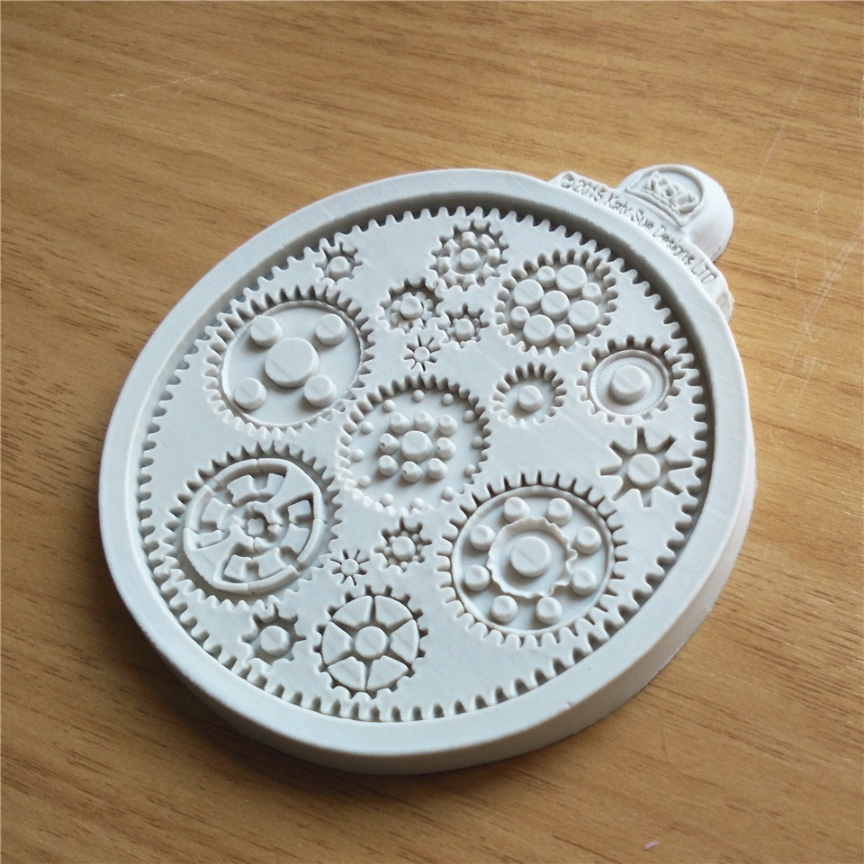 Steampunk Gears Silicone Fondant Cake Mold Cup Cake Mould Chocolate Baking Tools for Cakes