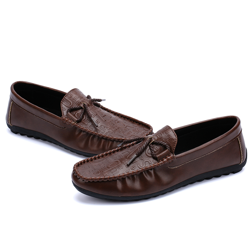 Men Casual Comfy Soft Sole Leather Flat Loafers