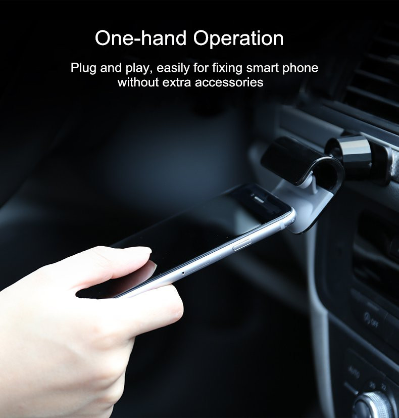 Universal Powerful Sticky 360 Degree Rotation Clip Holder Car Mount for iPhone Xiaomi Mobile Phone