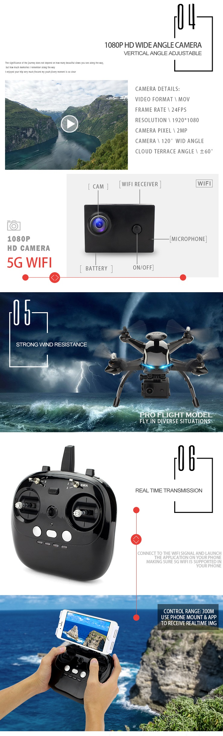 AOSENMA CG035 Brushless Double GPS WIFI FPV With 1080P HD Camera Follow Me RC Drone Quadcopter RTF - Photo: 5