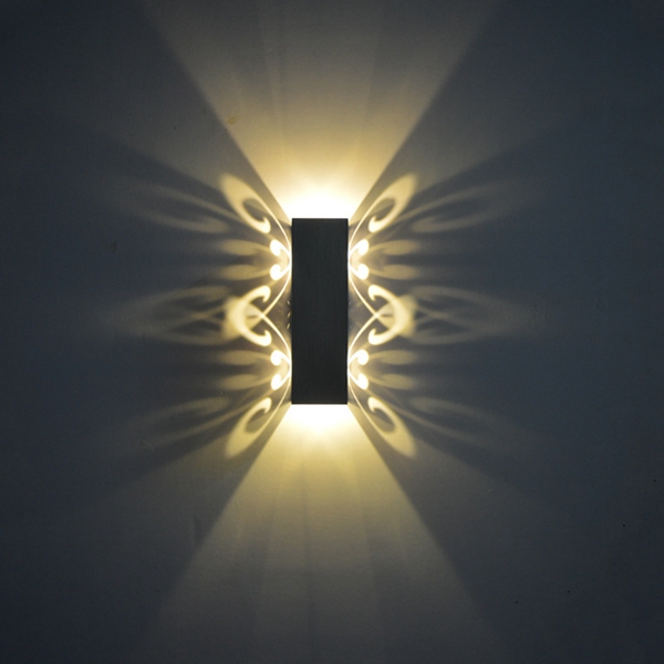 Modern 2W LED Butterfly Up/Down Wall Sconce Light Fixture Lamp Indoor KTV Decoration AC85-265V