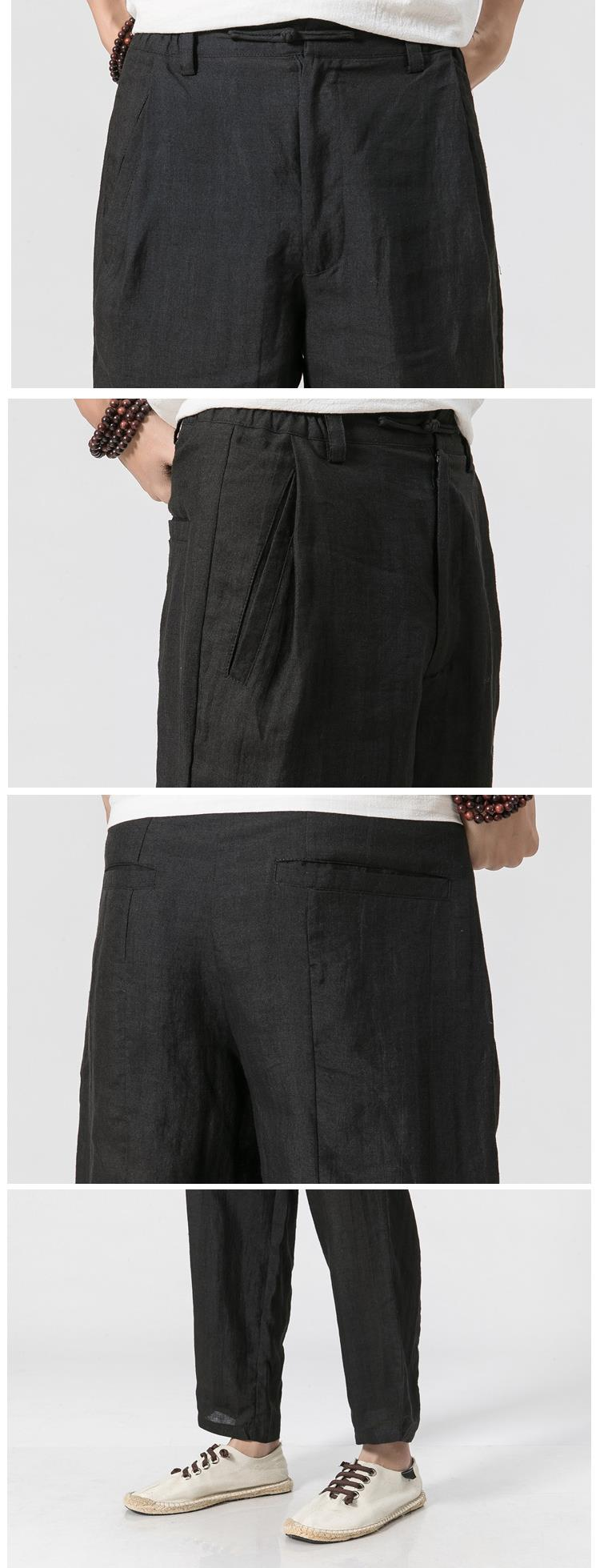 Men's Loose Cotton Linen Casual Pants