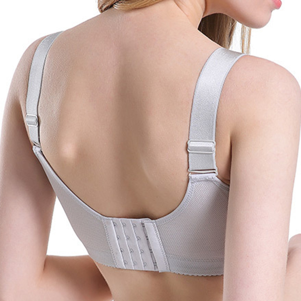 Plus Size Wireless Thin Cup Widen Straps Breathable Bra