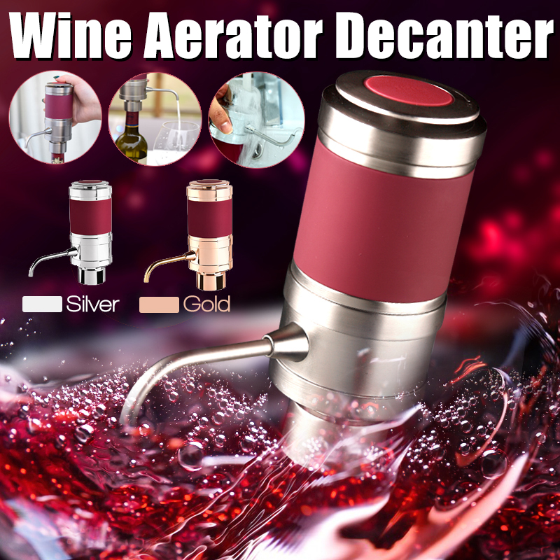 Portable Electronic Aerator Dispenser Air Pressure Pourer Home Party Aerating Decanter Tools Kit