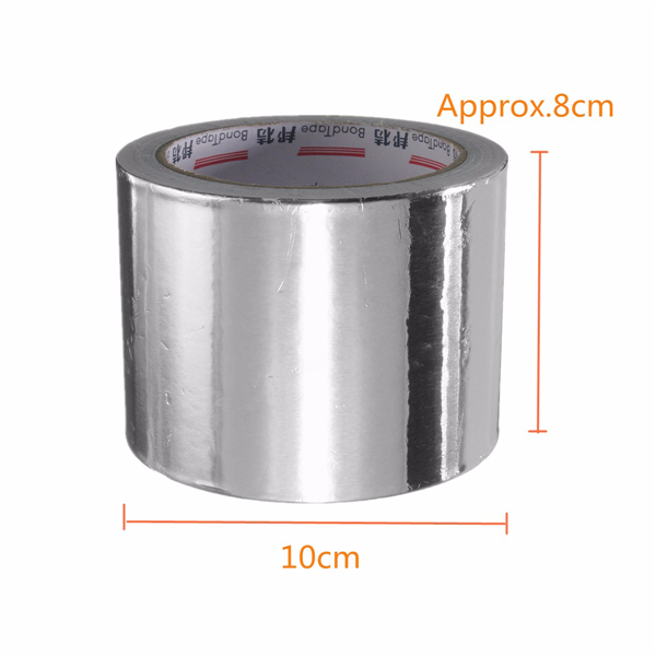 80mm Silver Aluminum Foil Adhesive Seal Ring Heating Roll Tape 25M