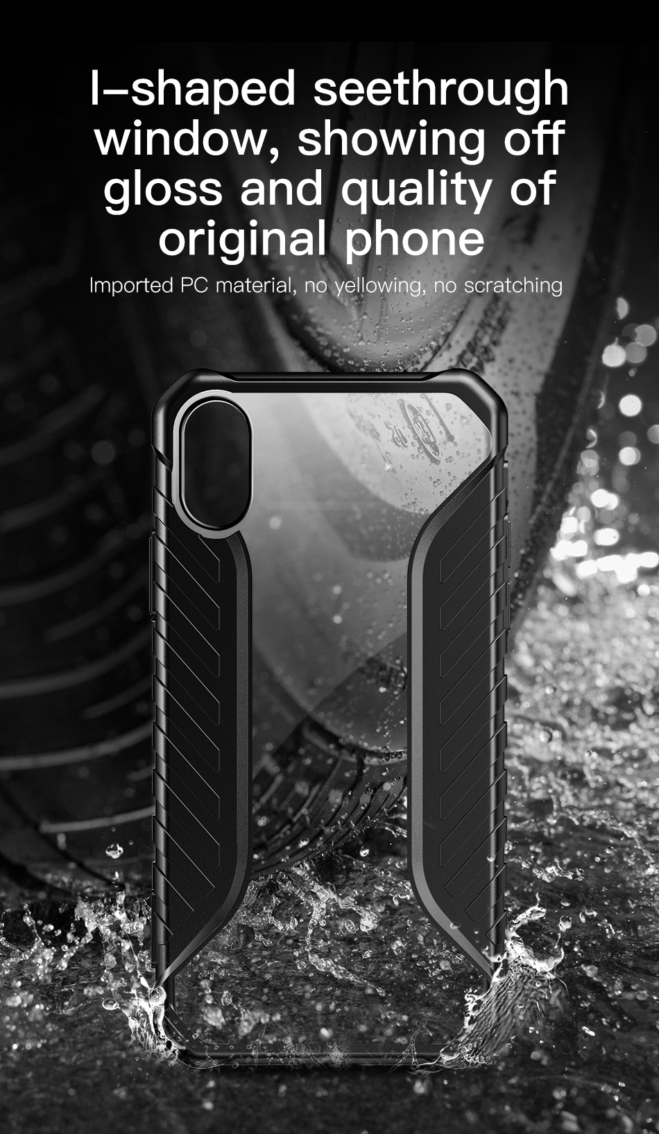 Baseus Shockproof Dropproof Protective Case For iPhone XS Hybrid PC TPU Back Cover