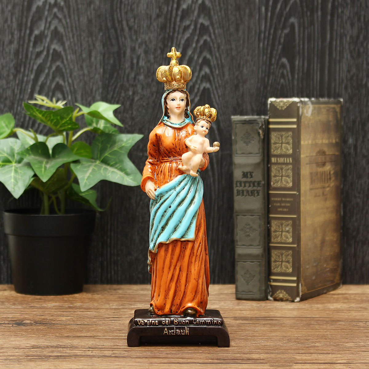 3D Our Lady of Mount Carmel Statue Figurine Blessed Hand Painted Craft Decorations