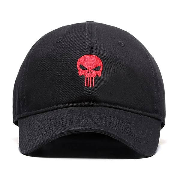Cotton Cranial Printted Embroidery Sun Peaked Cap