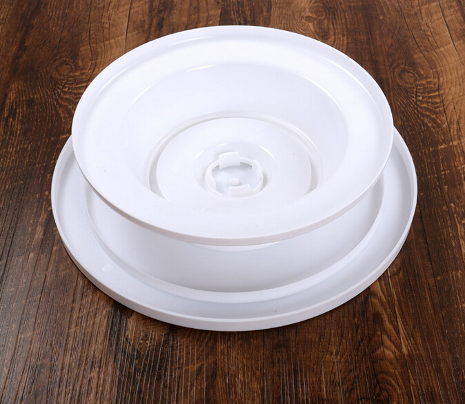 DIY Cake Pan Decorating Turntable Rotating Revolving Round Shaped Kitchen Display Stand Baking Tools