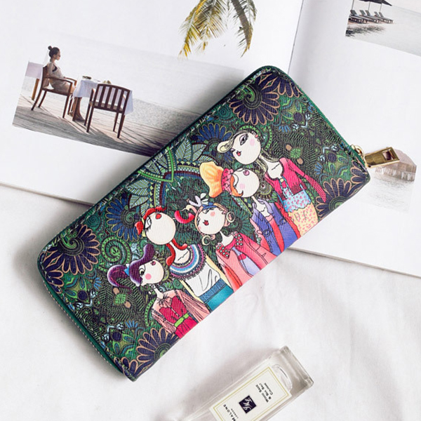 Women Bohemian Long Wallet Multi-Function Phone Bags