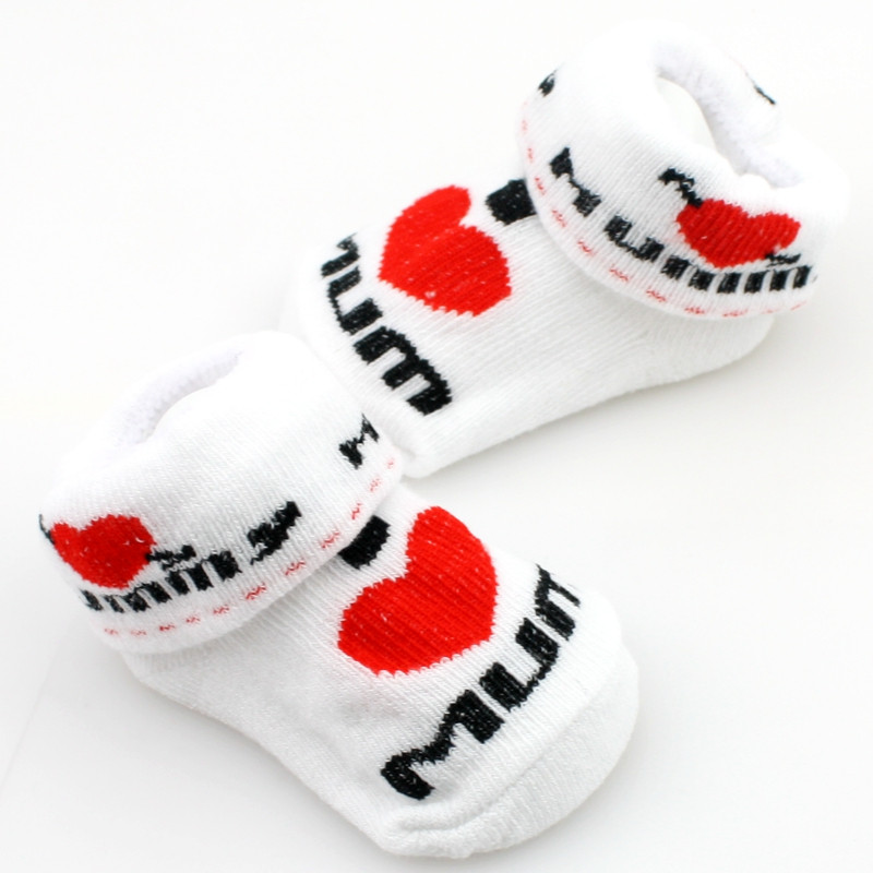 0 To 6 Months Soft Newborn Feet Accessories Baby Toddler Lovely Boys Girls Cotton Rubber Mom Dad Socks