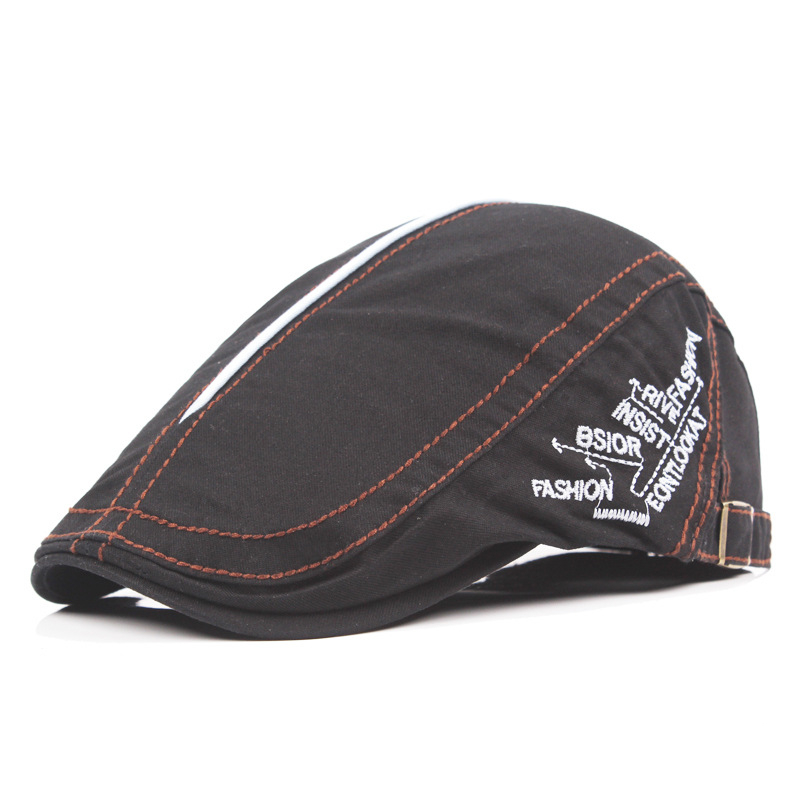 Men Women Cotton Retro Embroidery Beret Hat Casual Peaked Newsboy Cabbie Golf Gentleman Cap