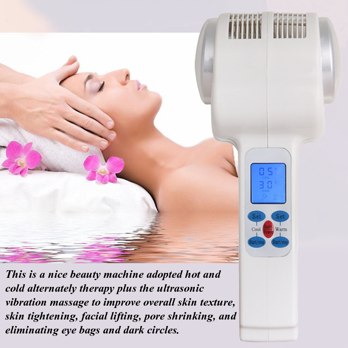 Ultrasonic Cryotherapy Hot Cold Body Face Massager