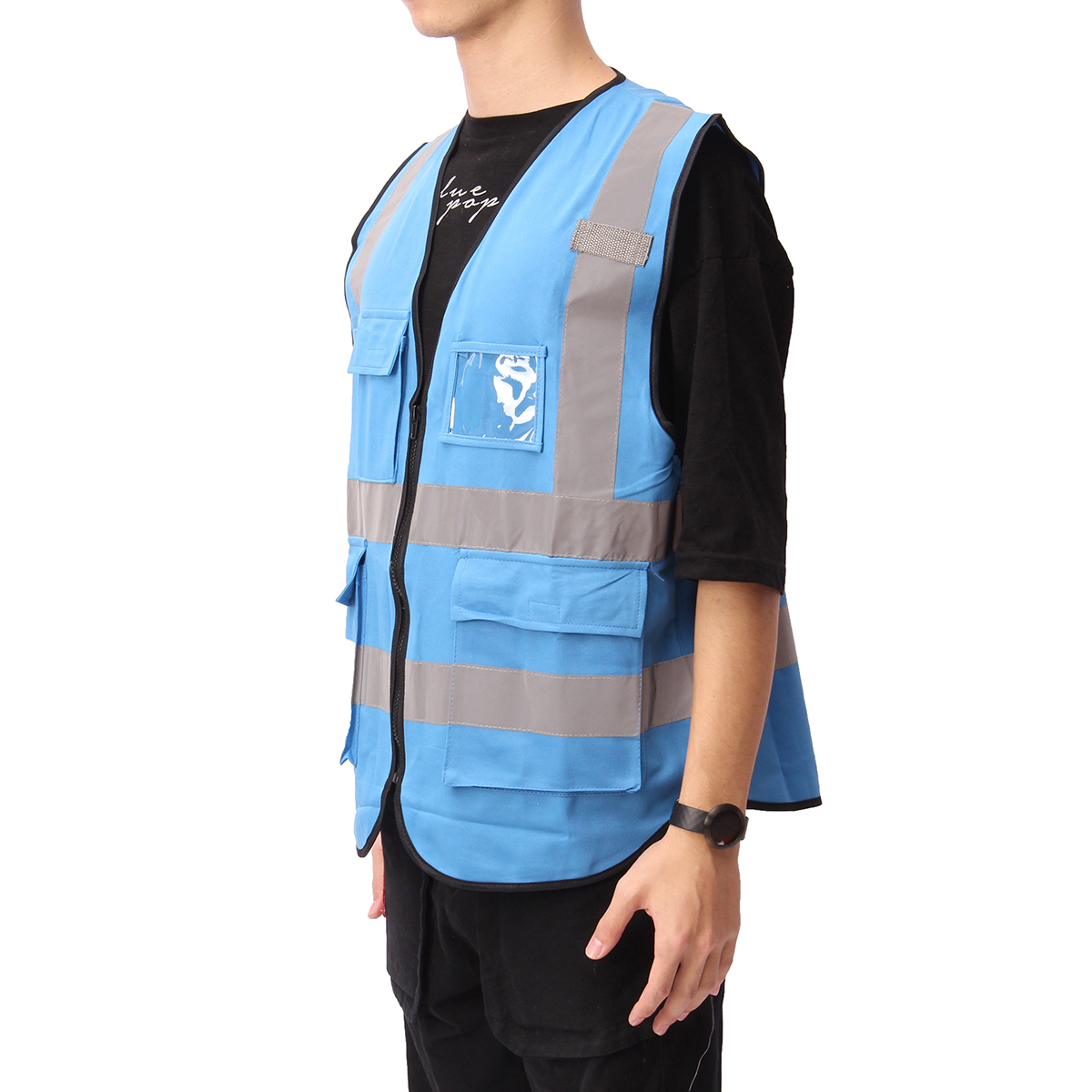 5 Color Vis Vest Workwear Clothing Safety Reflective Vest Safety Vest Reflective