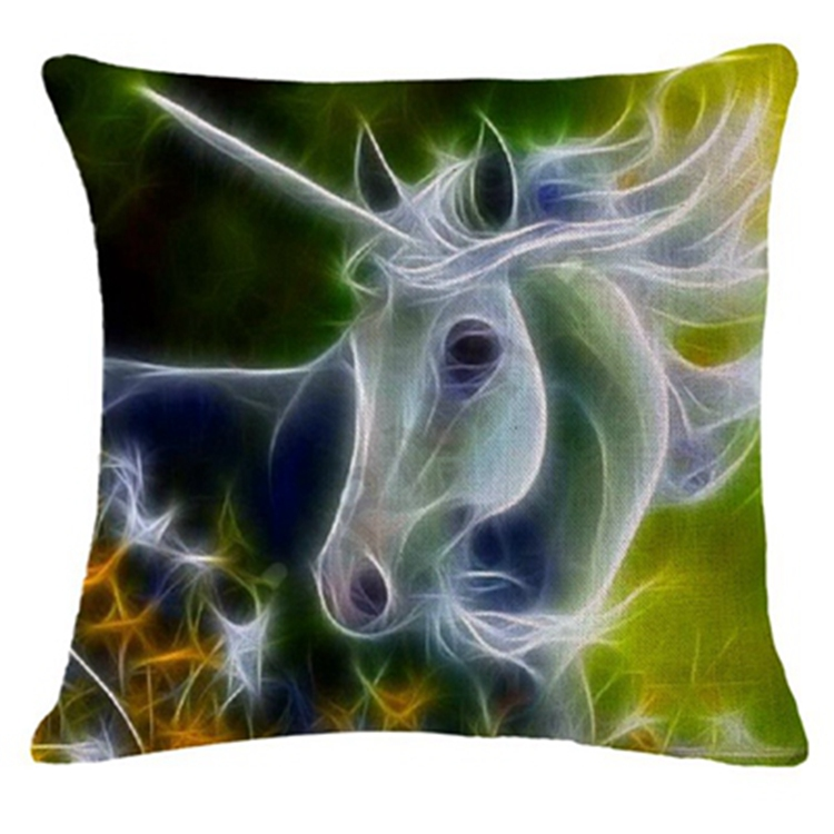 Honana 45x45cm Home Decoration 3D Animals Fluorescence 6 Optional Patterns Cotton Linen Pillowcases Sofa Cushion Cover