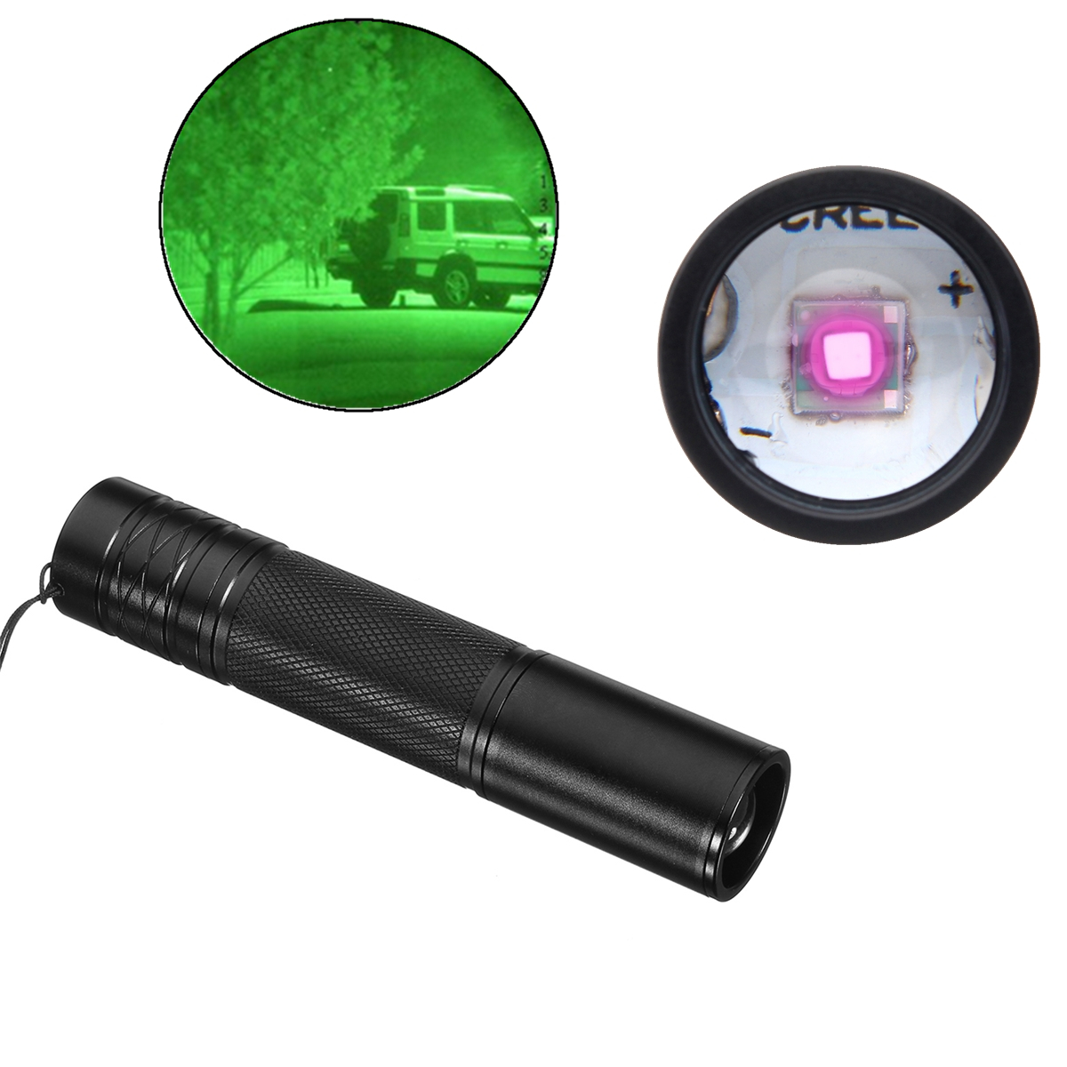 5W 850nm Infrared IR LED Flashlight Zoomable Night Vision Scope Outdoor Torch