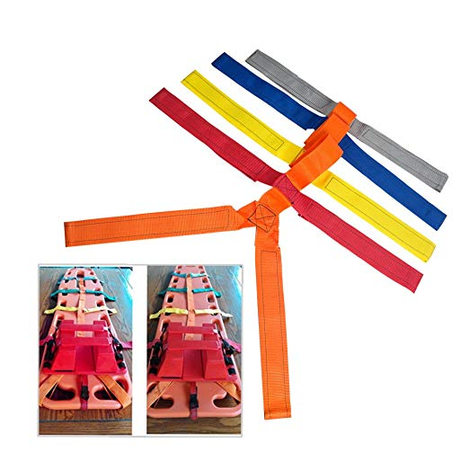 Backboard Color Coded Spider Strap For Spine Support Board Stretcher Immobilization Spinal Fixation