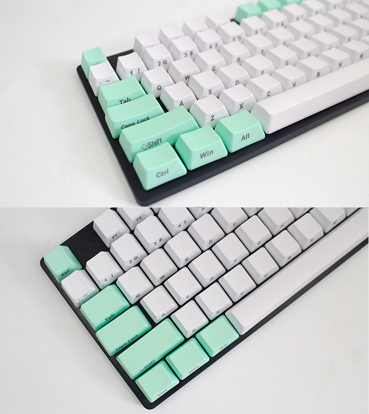 104 Key PBT OEM Profile Thick Side Printed Keycaps for Cherry MX Switches Keyboard