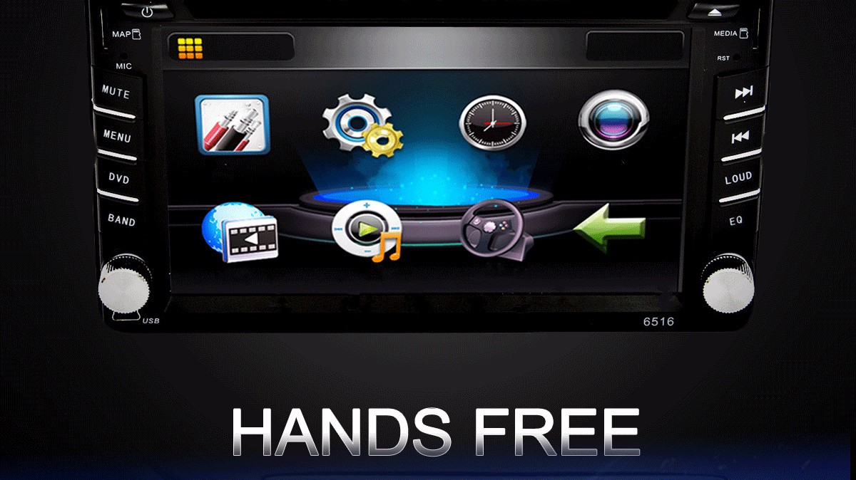 6.2 inch Car DVD CD Player Stereo Bluetooth Hands Free Radio Micro Sd USB Double 2 Din