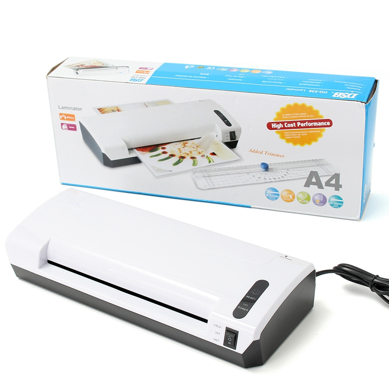 HQ-236 Laminator Thermal Photo Document Laminator Hot And Cold System Laminating Pouches Machine