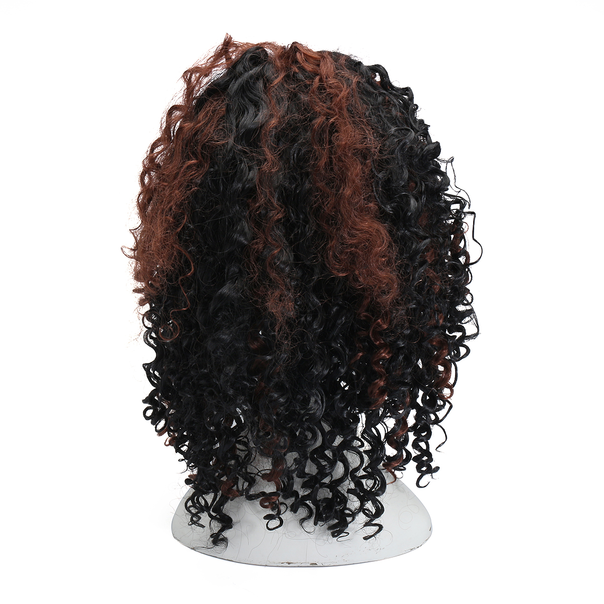 Brazilian Black Brown Hair Deep Wavy Curly Lace Front Full Wig