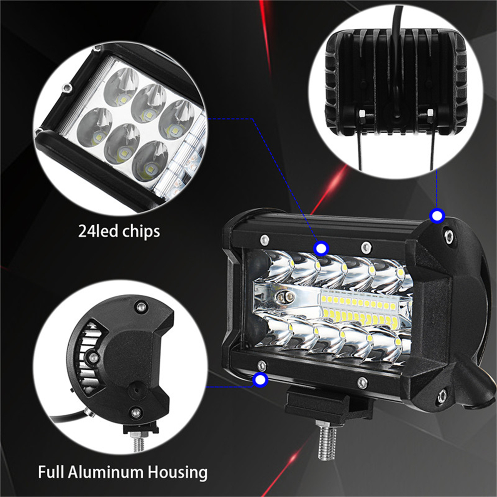 5Inch LED Work Light Flood Spot Combo Beam 72W 1920LM for Offroad Car Truck Boat Trailer