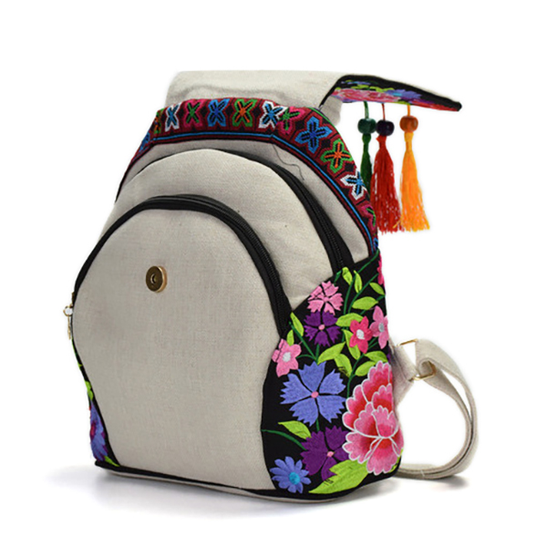 Women National Style Fashion Embroidery Bag Handbag Backpack