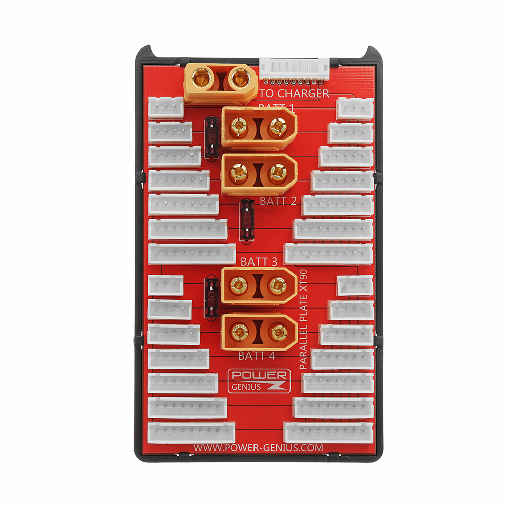 PG Parallel Charging Board XT90 Plug Supports 4 Packs 2-6S 2-8S Lipo Battery