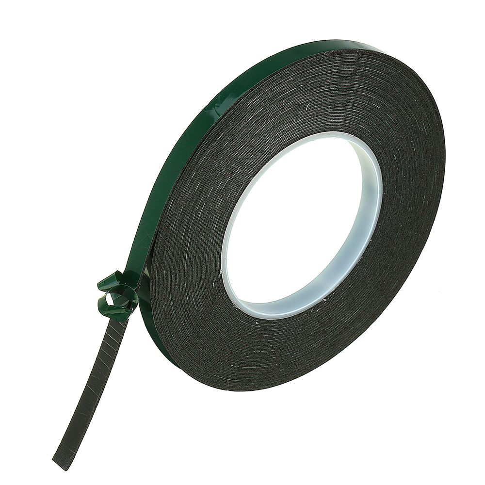 10m Double Sided Adhesive Tape Black Foam Sticker 10/12/20/30/40/50mm Width for Car Home Outdoor Fixed