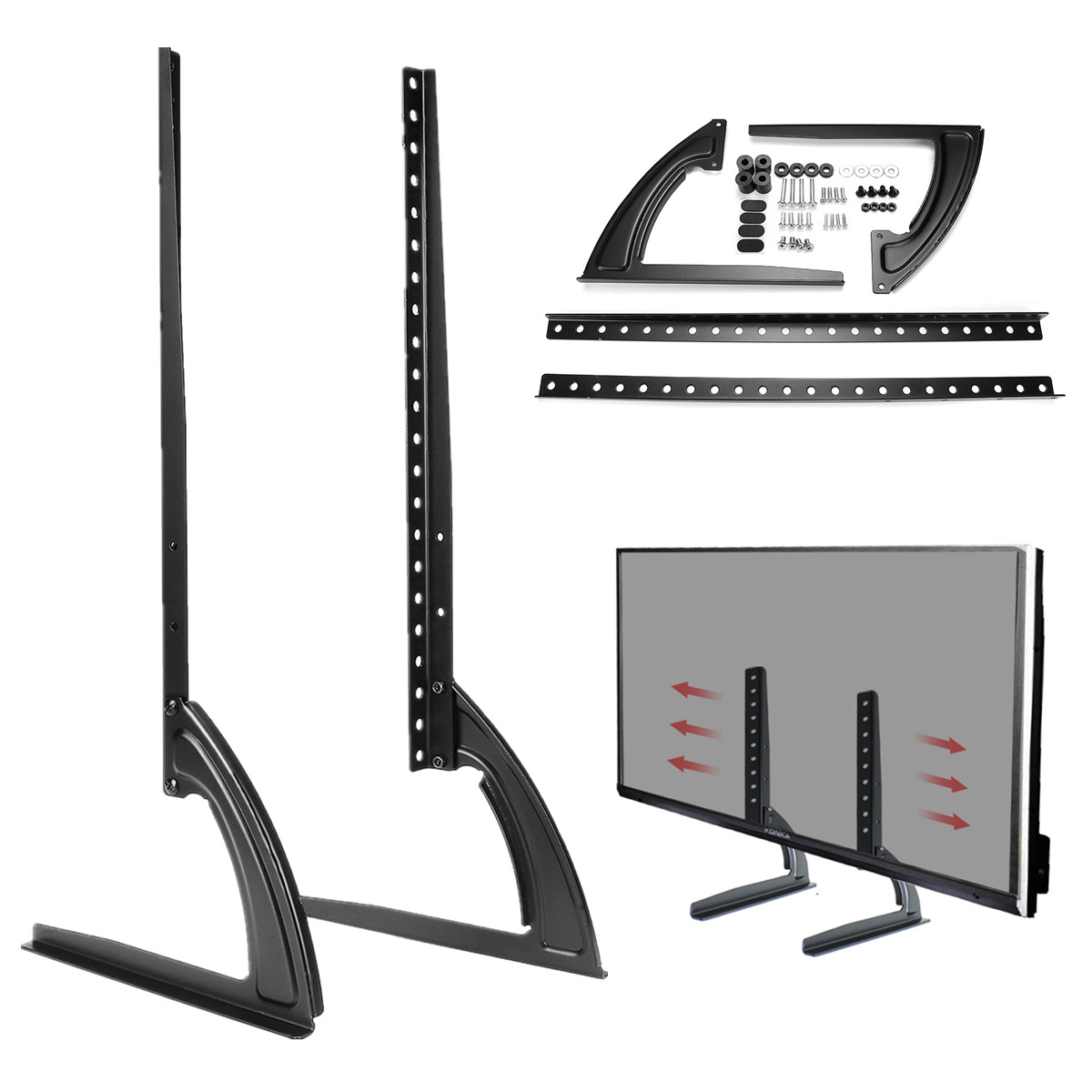Universal Table Top TV Stand Legs for LED LCD Plasma Fl