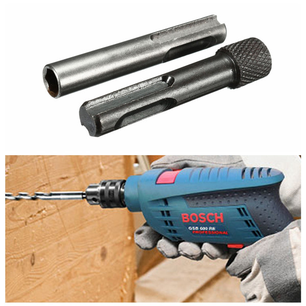 SDS To 1/4 Inch Hex Shank Drill Bit Adaptor Magnetic Socket Driver Conversion Tool