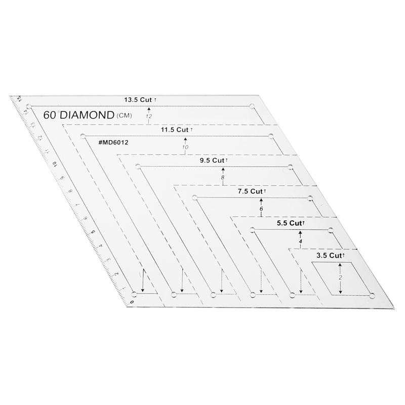 Transparent Quilting Sewing Patchwork Craft Scale Ruler Trapezoid Polygon Foot Ladder Tailor