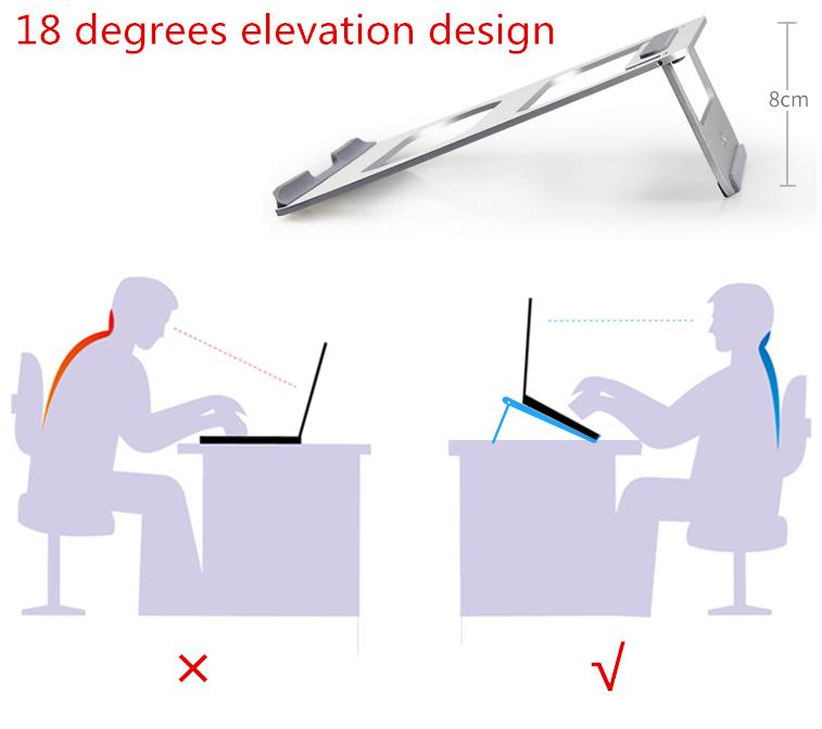 Cooskin Universal Folding Laptop Stand Aluminum Alloy Cooling Adjustable Desk Stand PC Tablet Holder