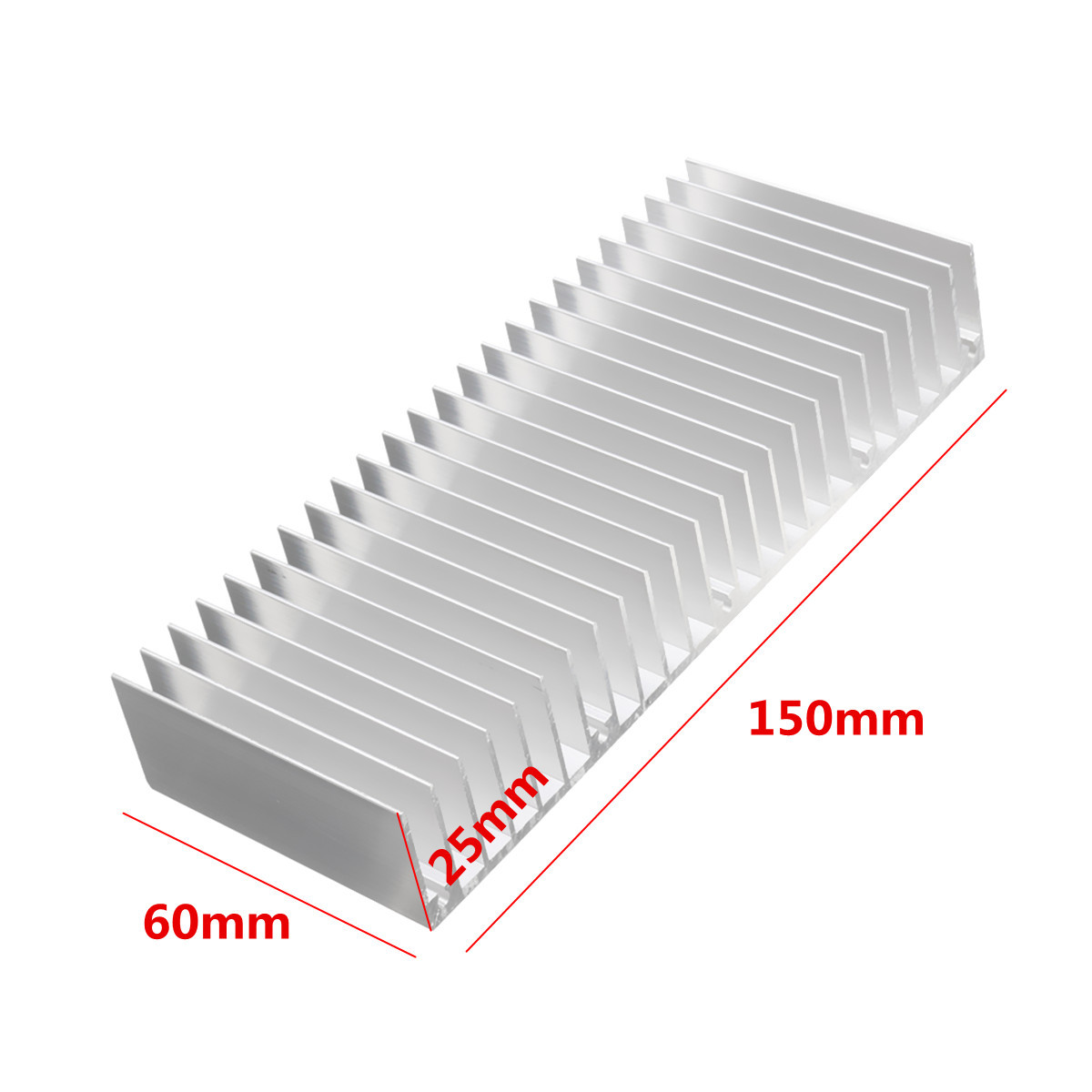 150x60x25mm Aluminum Heat Sink For Electronics Computer Electric Equipment