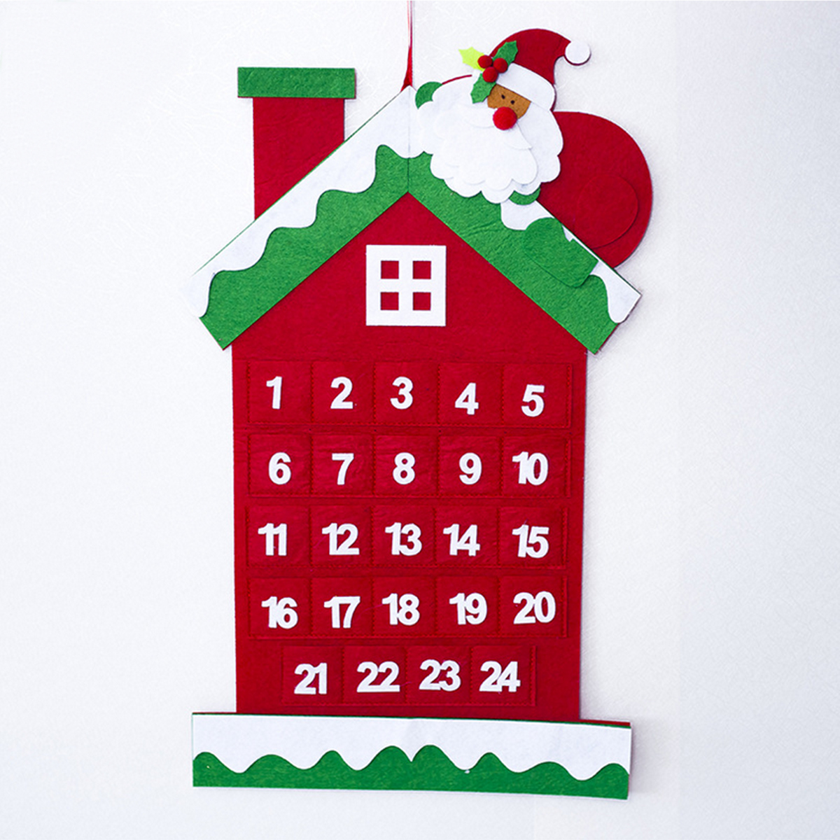 Christmas Tree Advent Calendar Felt Fabric Holiday Countdown Christmas Display Decor