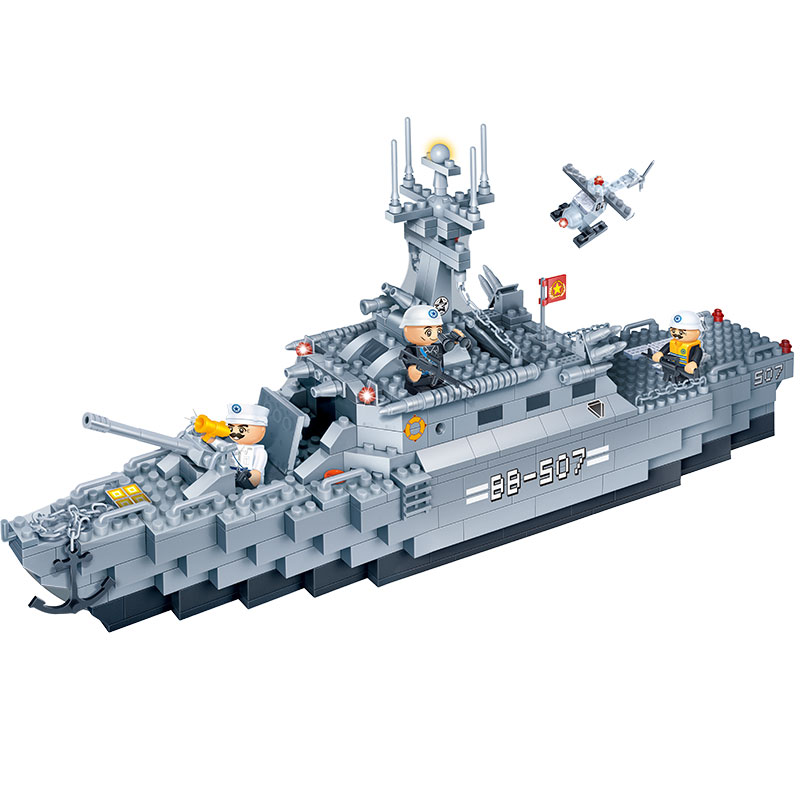 BanBao Military Frigate Warships Aircraft Building Blocks Toys Bricks Compatible With Le go