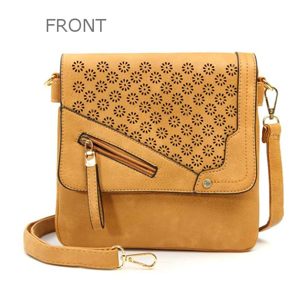 Women Hollow Out Bags Casual Flower Design Shoulder Bags Messenger Bags